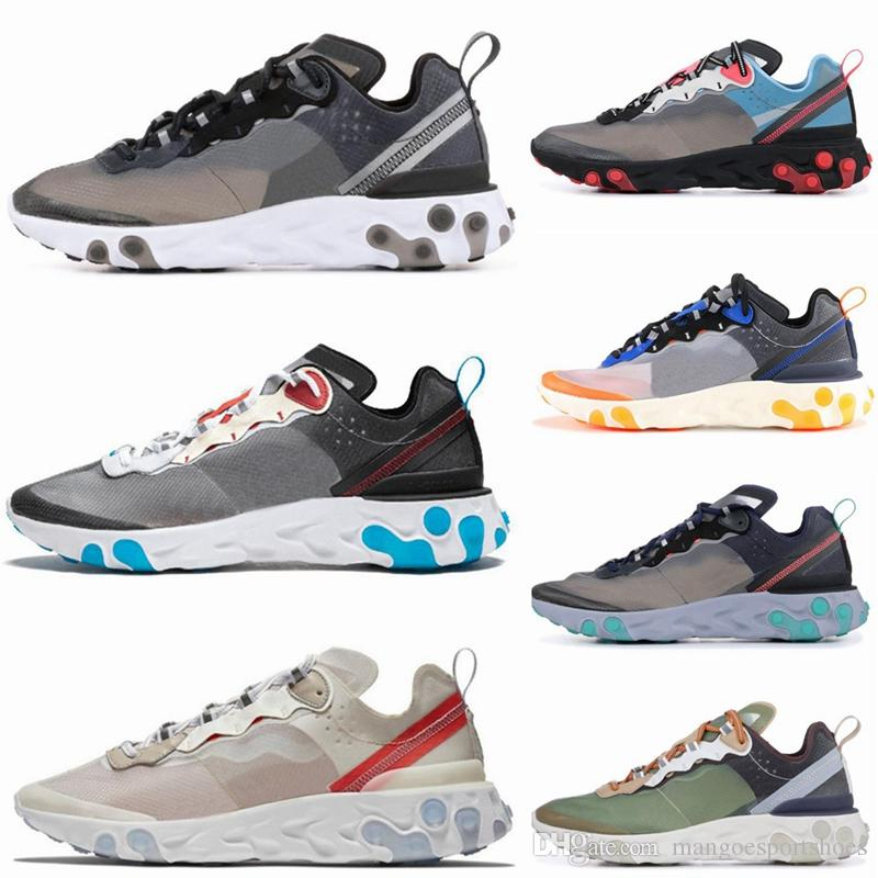 12a9615e04a Epic React Element 87 Running Shoes For Men Women White Black NEPTUNE GREEN  Blue Mens Trainer Designer Breathable Sports Sneakers Size 36 45 Cheap  Running ...