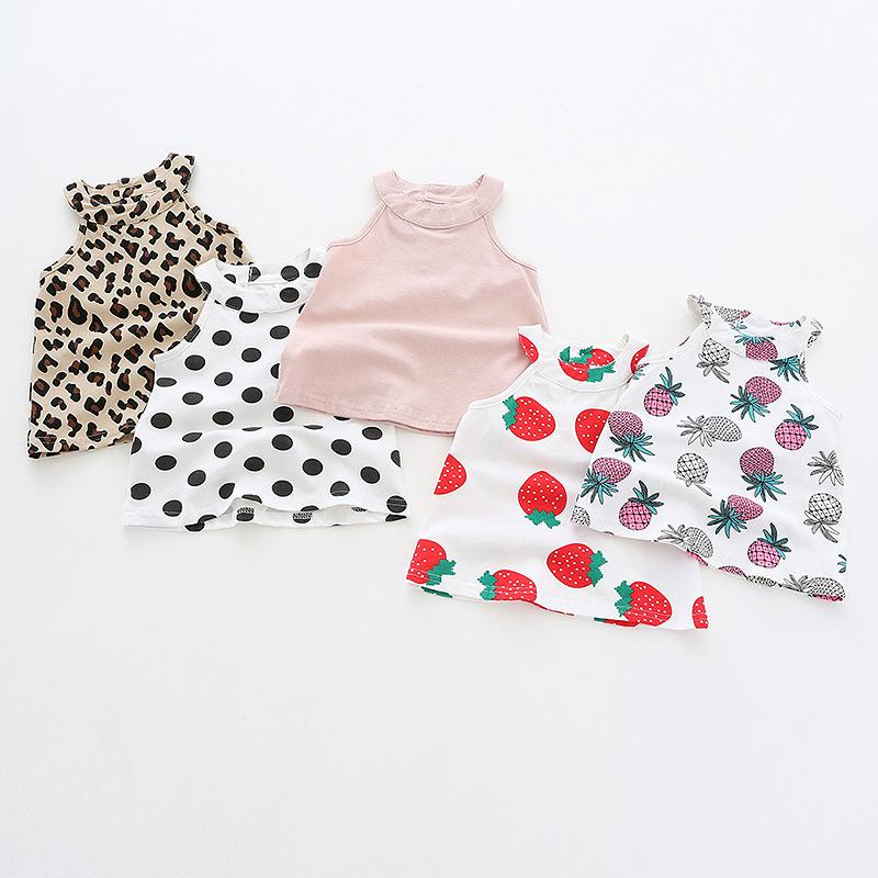 cbd3c2ec6884 2019 Baby Girl Clothes Short Sleeve Round Collar Strawberry Pineapple Leopard  Print Shirt Kids Causal 100% Cotton Girl Causal T Shirt From  Lolitaboutique, ...