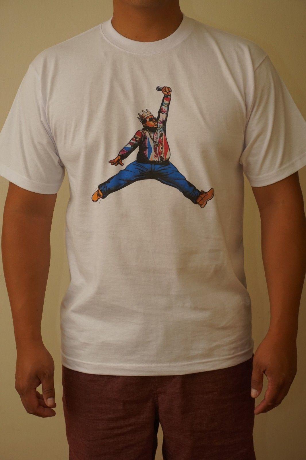 eed6b1448cc3 Hip Hop Jumpman Notorious BIG Biggie Smalls Short Sleeve T Shirt MEDIUM Men  Women Unisex Fashion Tshirt Funny T Shirt Slogans Shirt Shirt From ...
