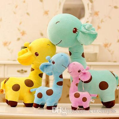 35cm Cute Baby Toys Rainbow Giraffe Plush Toys Dolls For Kids Brinquedos Kawaii Gift For Baby Christmas Gifts kids toys