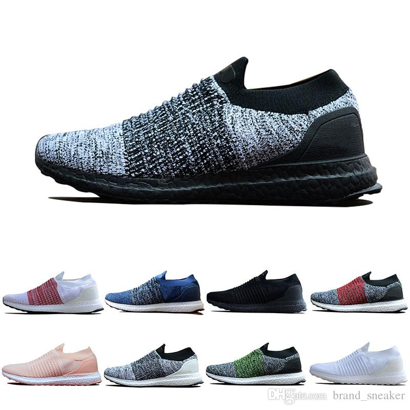 separation shoes acd95 506fb Ultra Laceless Core Classic Gray black Triple white Women Primeknit Pink  Red Runner Fashion Men Running sneakers Brand sport shoes Eur 36-45