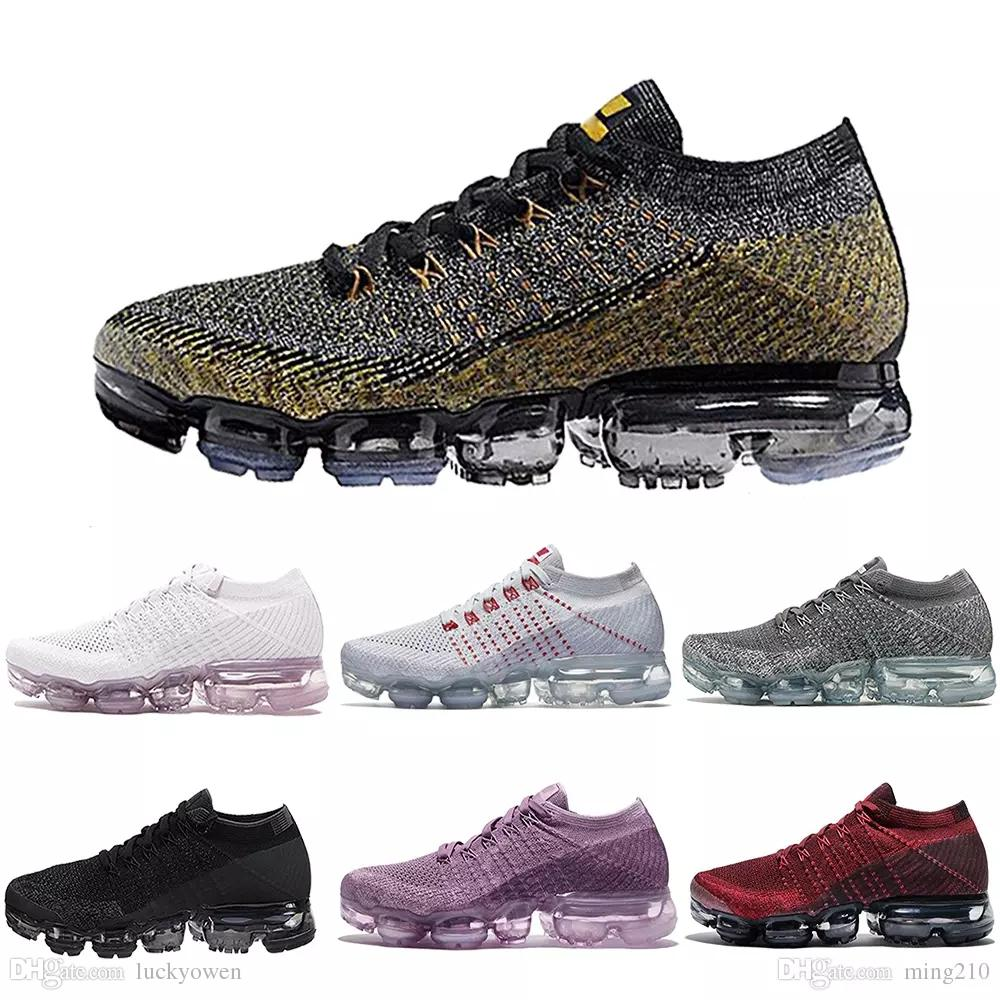 nike air max airmax vapormax flyknit 2.0 Alta calidad 2018 Air Men Women Running Shoes Cojín superficie transpirable línea de mosca zapatos deportivos