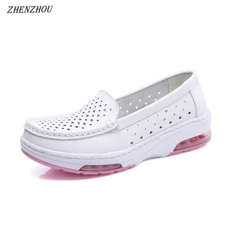 8fd95a9d0da Dress Zhenzhou Summer Nurse Shoes White Wedge Heels Breathable Work Shoes  Anti Skid Air Cushion Pregnant Women S Mother Shoes Mens Casual Shoes Penny  ...