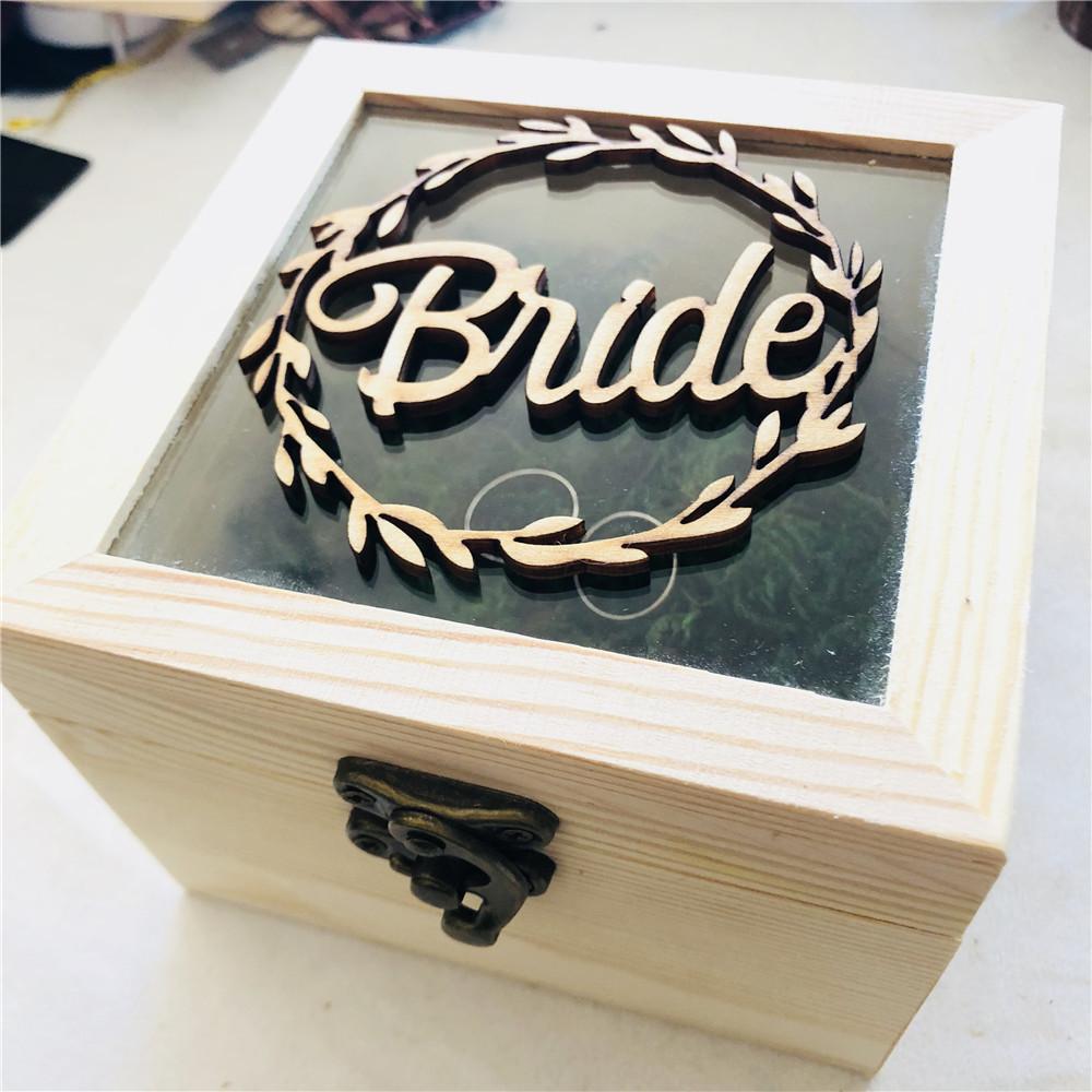 Grosshandel Braut Brautigam Hochzeit Ring Box Holz Hochzeitsgeschenk