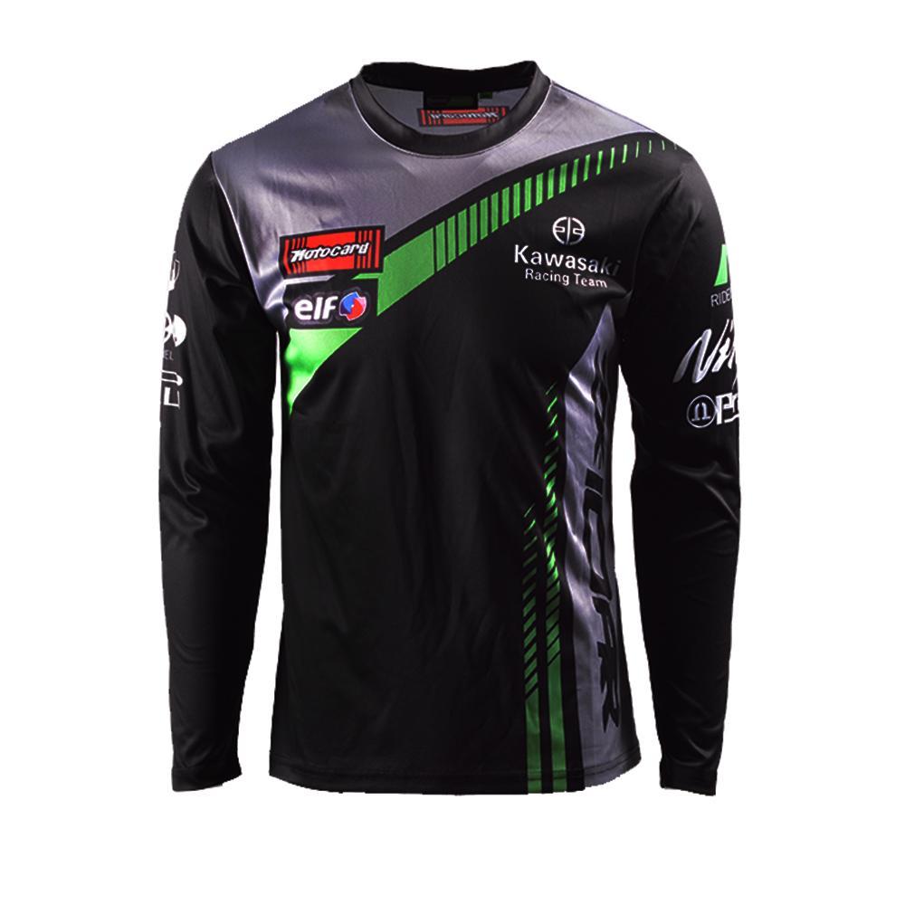 2019 Moto Gp Team Langarm T Shirt Fur Kawasaki Racing Motorrad Mococross Mx Ninja T Shirts Jersey