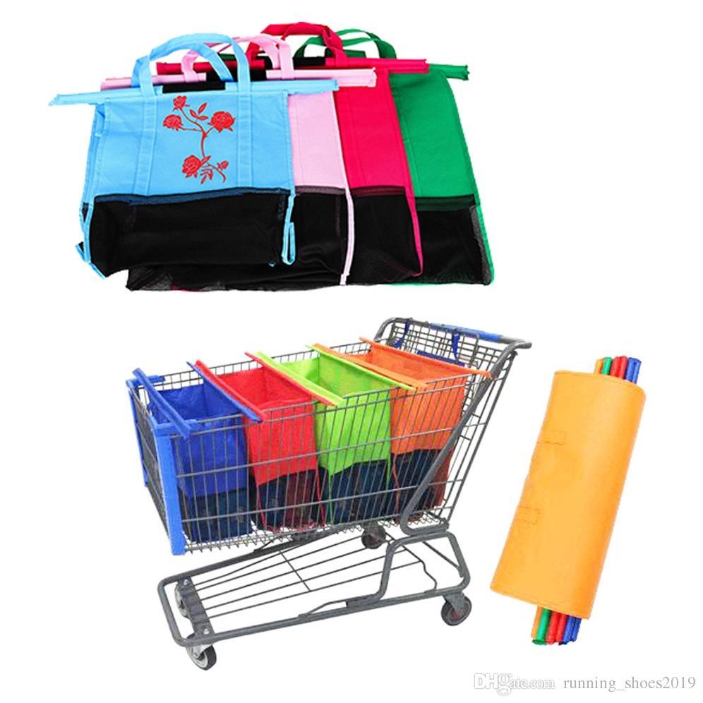 3c333f593 1 Set Shopping Cart Trolley Bags Foldable Reusable Grocery Shopping Bag Eco  Supermarket Bag Easy Use And Heavy Duty Bolsas  31391 Wholesale Handbags  Cheap ...