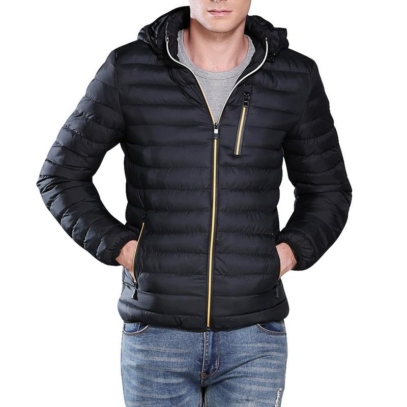 Litthing 2019 Inverno Casual Male Parka caldo cappotto pesante Plus Size Mens Jackets Slim Fit Coat Soild Therml Windbreaker Giacche