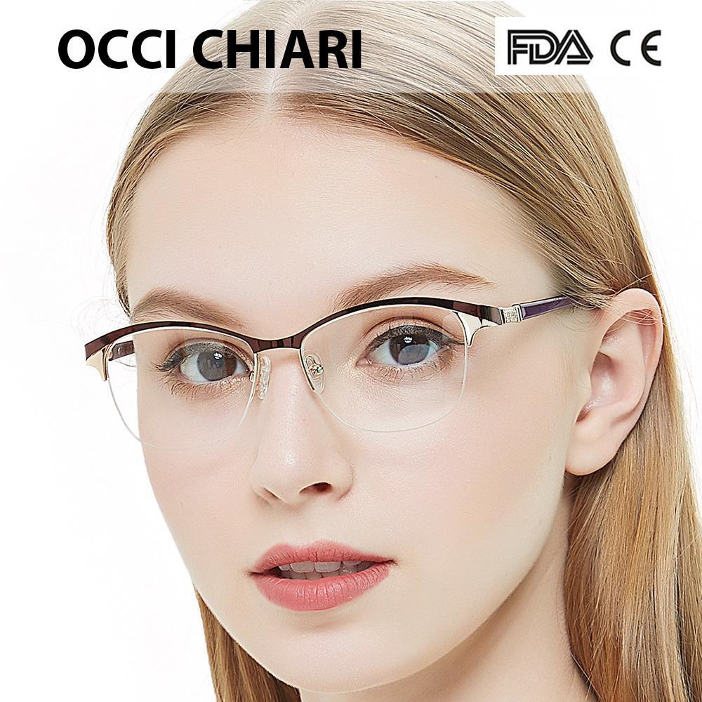 103a32e0376 Women Round Glasses Frame Optical Prescription Computer Myopia ...