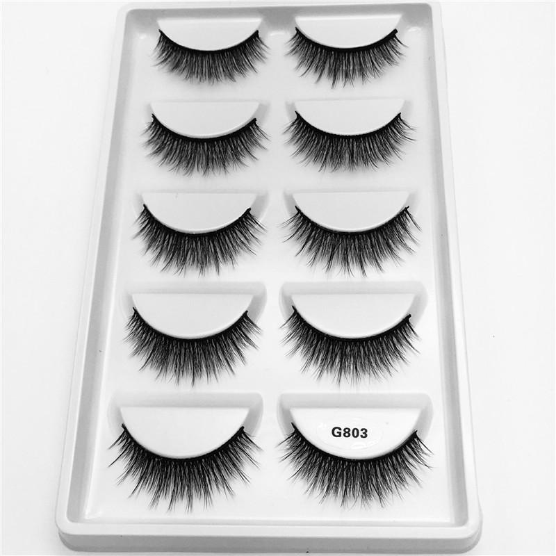 a6a6bc3cabf Handmade 3D Mink Lashes Short False Cross Messy Dense Natural Eyelashes  Eylure Lashes How To Put On False Eyelashes From Yangti, $38.28| DHgate.Com