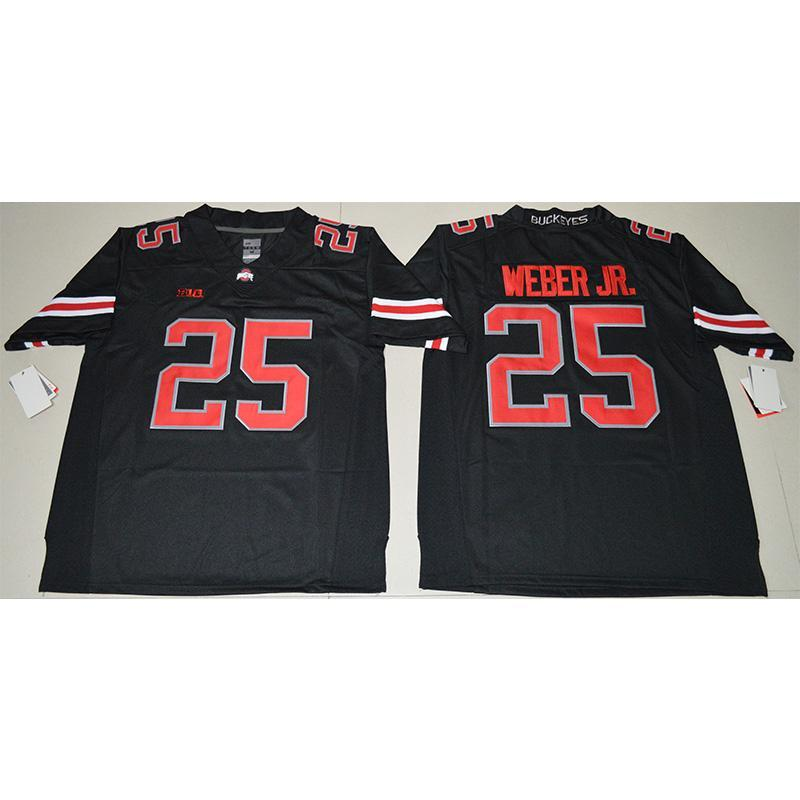 Mens New Ohio State Rosskastanien Mike Weber Genäht NameNumber Spiel Elite Legend American College Football Jersey Größe S-3XL