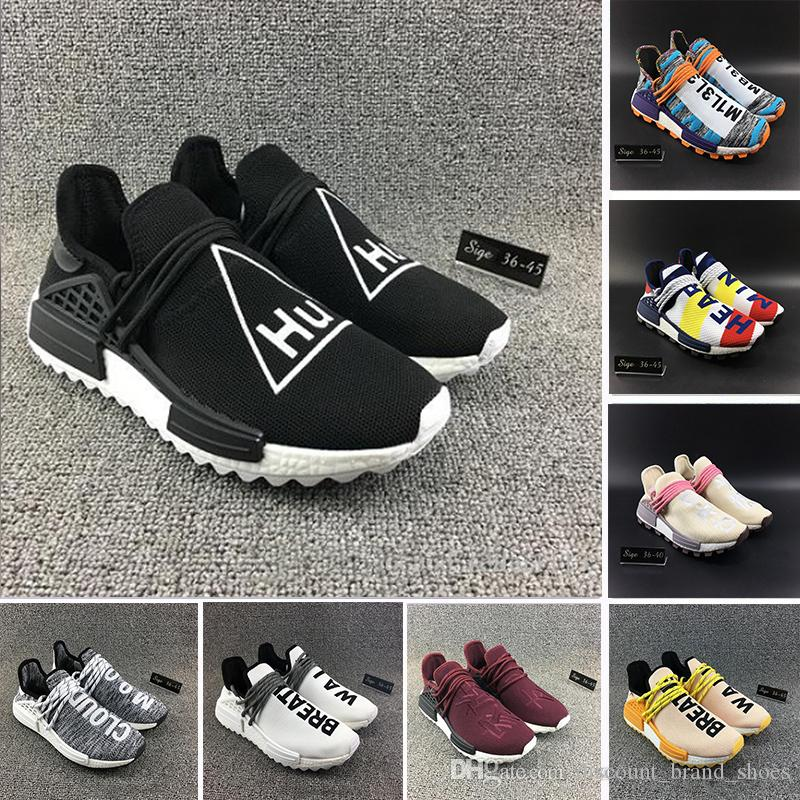 e10996cc1 With Box Heart Mind HU TR Human Race Running Shoes Friends And Family Solar  Pack Pharrell Williams Men Women Trainers Runner Sports Sneakers Athletic  Shoes ...