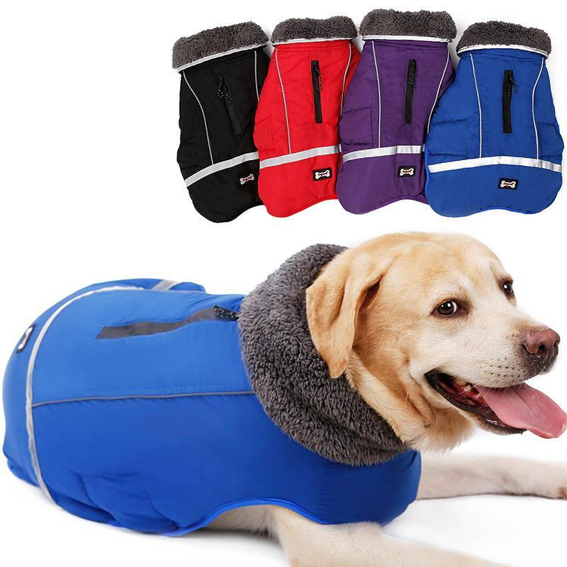 5755238287f Dog Clothes Winter Waterproof Outdoor Pet Dogs Jacket Thicken Warm ...