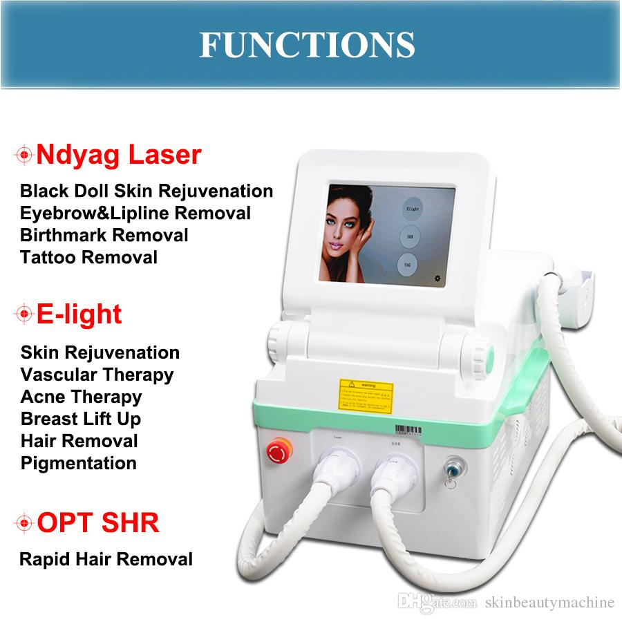 Popular indolor OPTAR SHR IPL Máquina de Remoção de cabelo Rápido Ndyag laser rejuvenescimento da pele da boneca negra Multi-Funcional Equipamentos de beleza