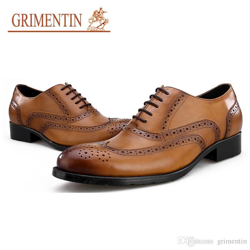 4977d591 Compre GRIMENTIN Marca De Lujo De Los Hombres Zapatos Oxford Diseñador De  Moda Formal Para Hombre Vestido De Zapatos De Cuero Genuino es De Gran  Tamaño ...