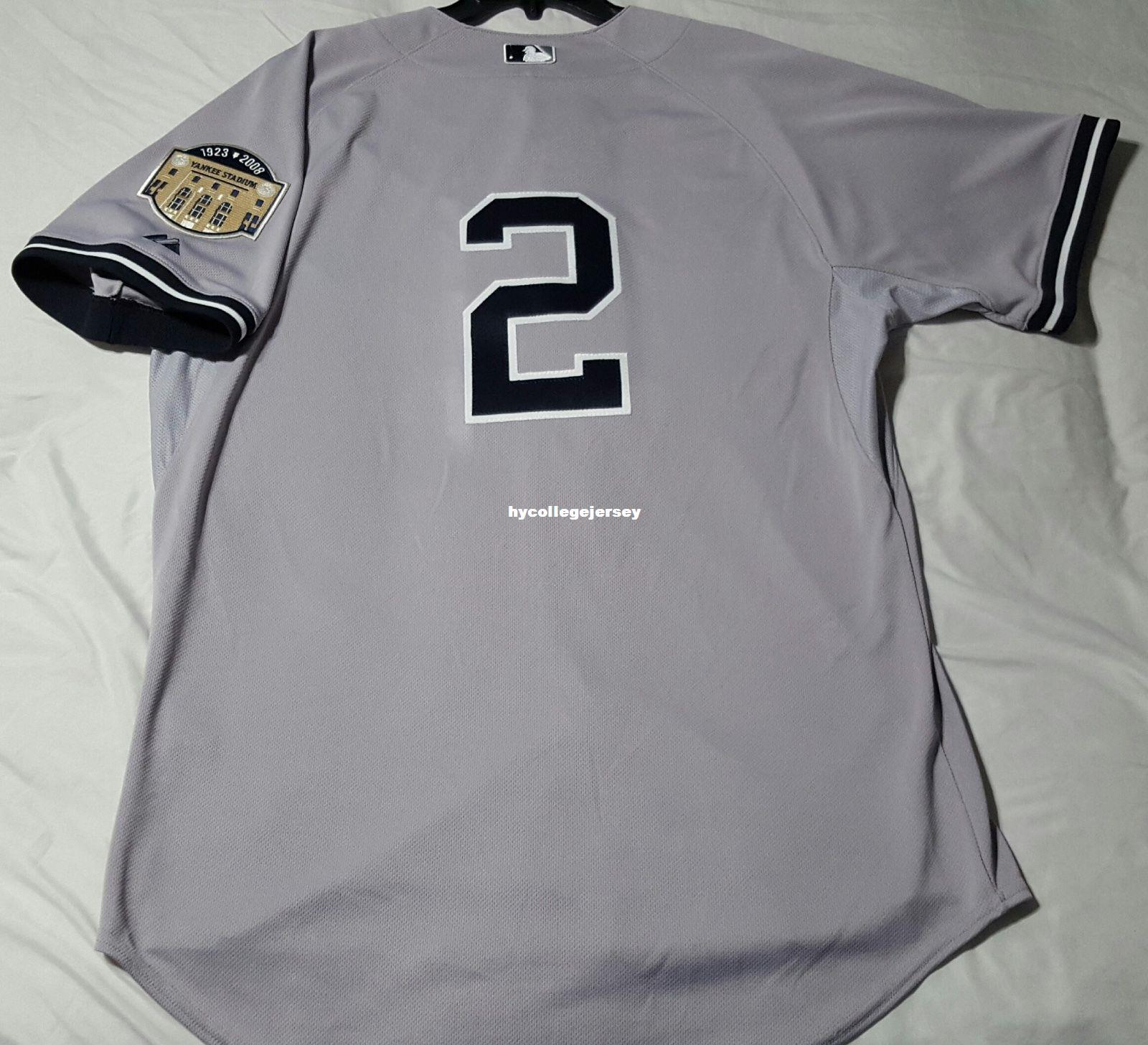 sports shoes ab3c4 a00c5 Cheap Mens DEREK JETER #2 NEW YORK COOL BASE Jersey Stitched Wholesale Big  And Tall SIZE XS-6XL baseball jerseys