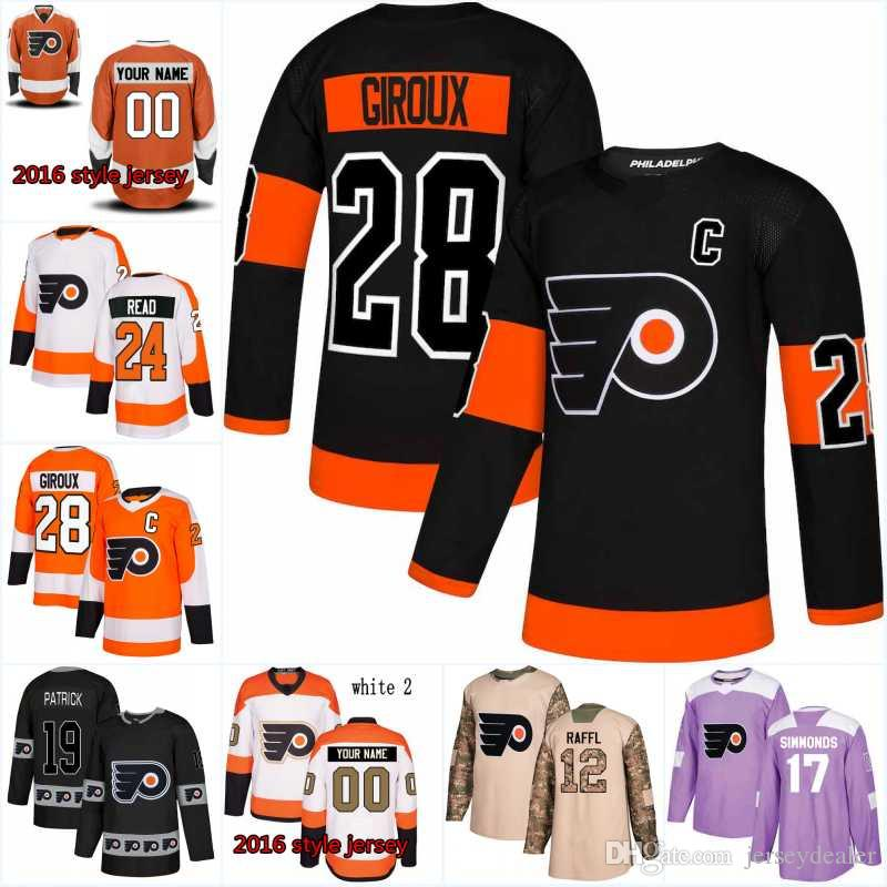 2019 79 Carter Hart Men Philadelphia Flyers Jersey 28 Claude Giroux 14 Sean  Couturier 17 Wayne Simmonds 37 Elliott New Season Hockey Jerseys From ... 08cd34418
