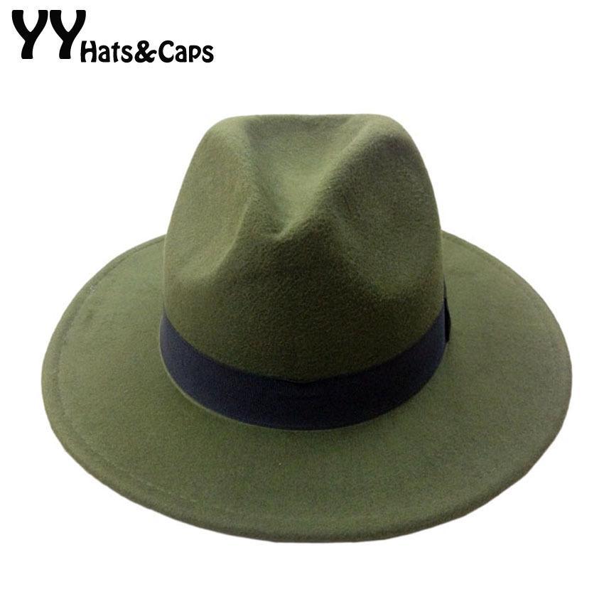 f932376761d95 Compre es De Lana Gorras Trilby Para Hombres Mujeres Vintage Sombreros De  Panamá Con Cinta Negra Los Sombreros De Ala De Lana YY0399 D19011102 A   18.8 Del ...