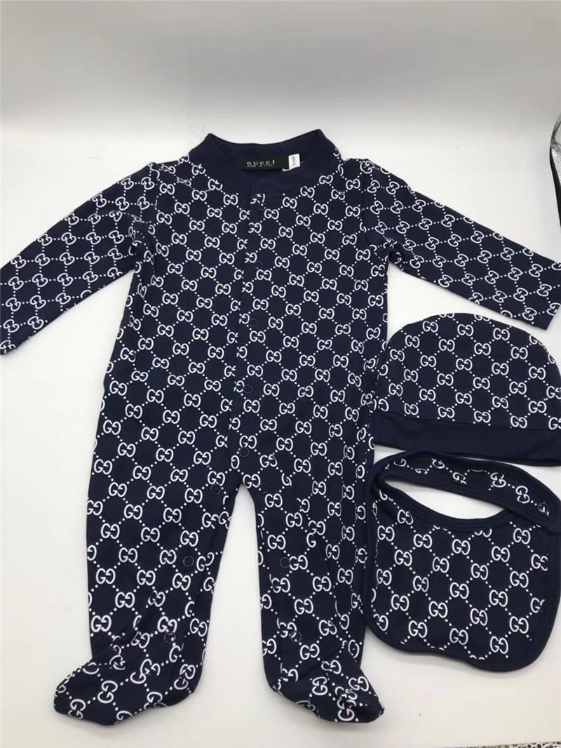 99230c50e7938 Baby Boys Girls Rompers Designer Kids Long Sleeve Cotton Jumpsuits Infant  Girls Letter Cotton Romper Boy Clothing New Fashion
