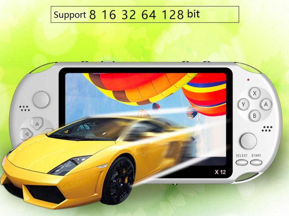 X12 joueurs de jeu de poche 8GB Mémoire Portable Jeux vidéo Consoles 5.1inch est devenu Palyers avec support TF Card 32GB MP3 MP4 Jeux de jeu