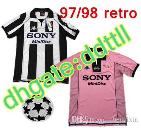 competitive price 764e4 559ac 97/98 Retro version Juventus Soccer Jersey 1997/1998 #10 DEL PIERO #9  INZAGHI #21 ZIDANE #26 DAVIDS Italia Champions League football Shirt