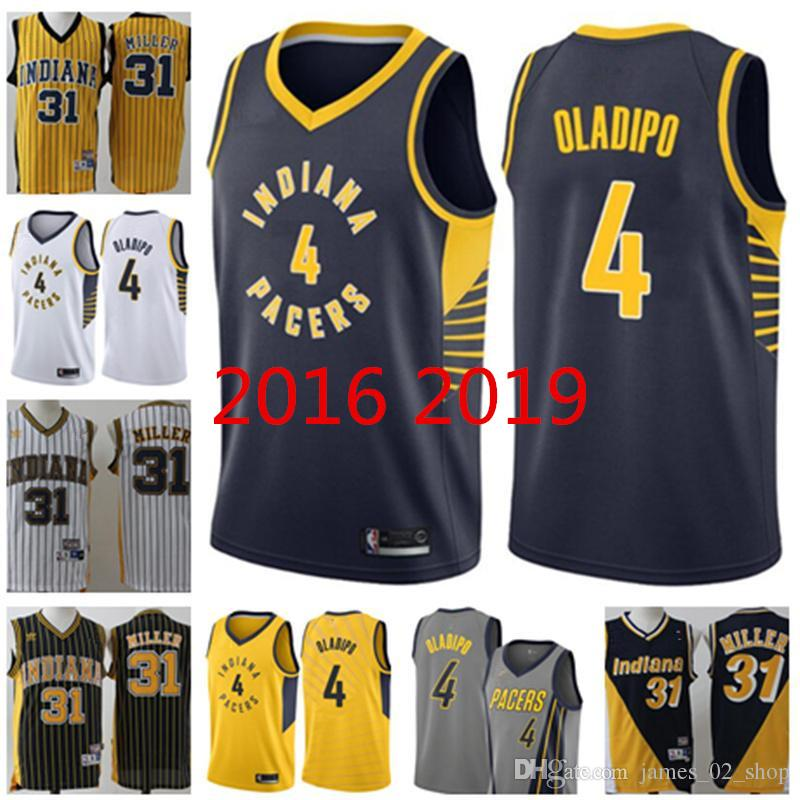 timeless design 254a7 97457 2019 Cheap hot sale Indiana Victor Oladipo jersey Pacers Reggie Miller  Jerseys Retro Jersey S-2XL Stitched basketball shirts
