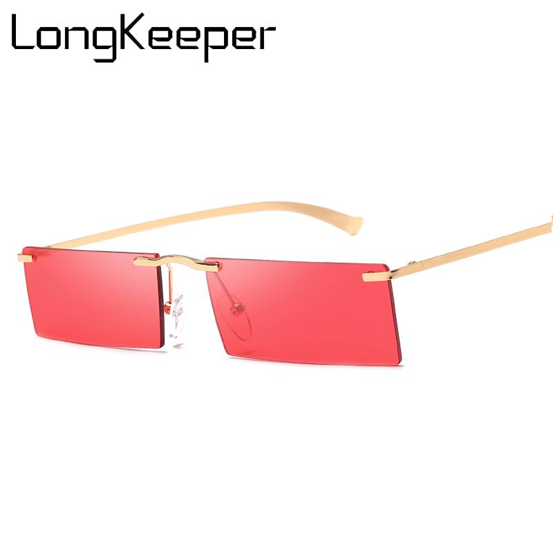 a1a60567a9b Rimless Sunglasses Women Men Trending Product 2019 Square Metal Frame Black  Red Green Square Shades UV400 Glasses Gafas Vintage Sunglasses Super  Sunglasses ...