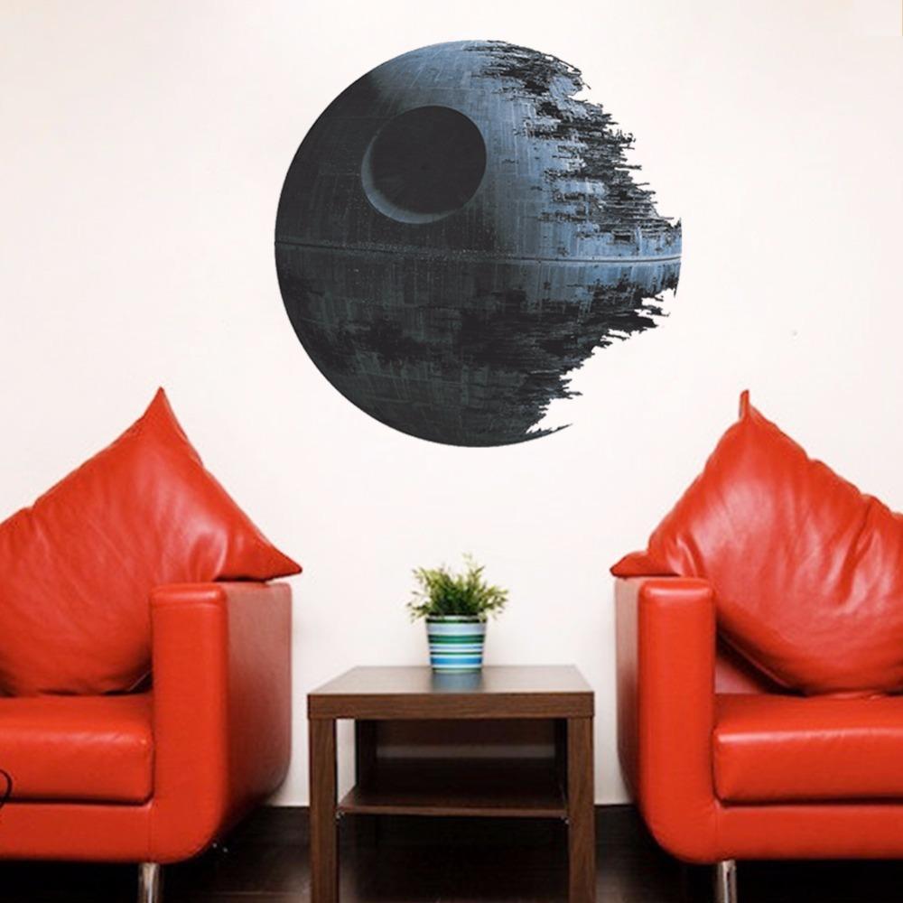 Zooyoo savaş ölüm yıldızı vinil sanat duvar sticker oturma odası yatak odası 3d ev dekor sticker çocuk odaları için ayrılabilir duvar çıkartmaları