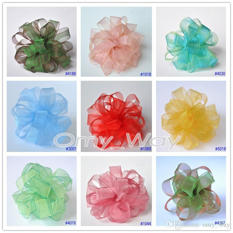 Sheer Organza Silk Ribbons 11 SIZES, 168 Colors, DIY Craft,Zakka,Hair,Sewing,Packaging,Wedding Party,Hair Bow Ribbon Tape