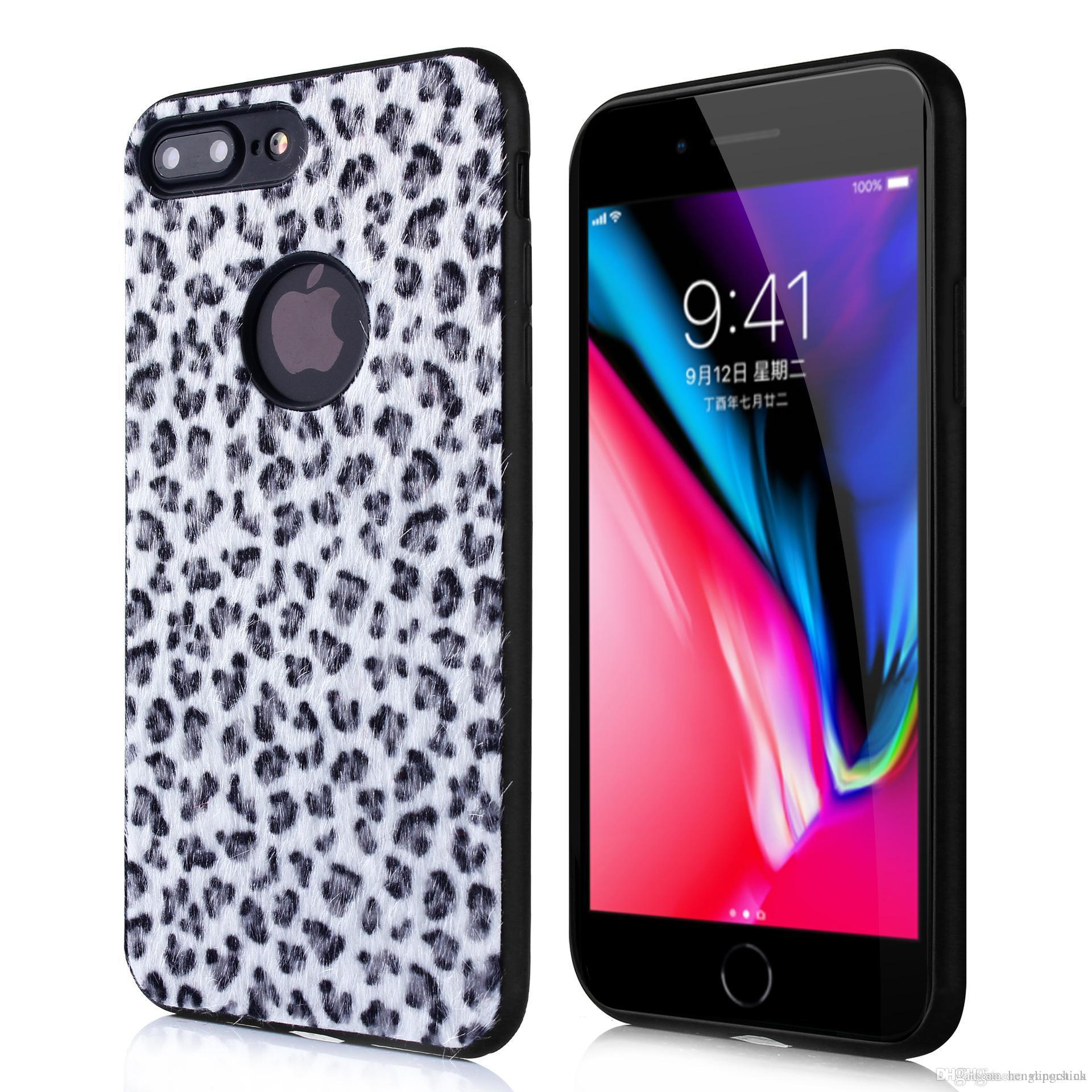 aee3bbd6e Leopard Plush Phone Case For Huawei Samsung Galaxy Note9 S8 S9 S7 Ultra  Thin Soft TPU Silicone Cover Iphone Xs Max XR X 6S 7 8 Phone Case Leather  Phone ...