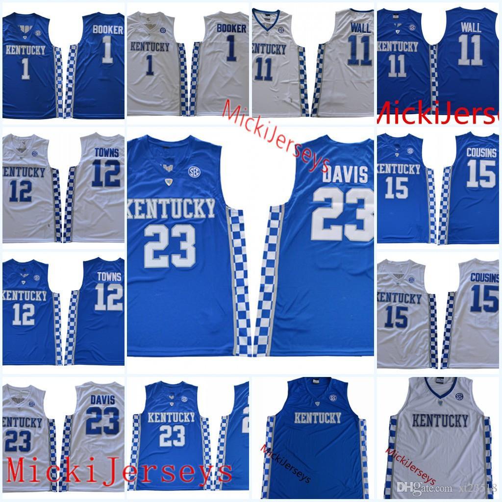 58a57f74a960 2019 Mens Kentucky Wildcats Anthony Davis Basketball Jersey Devin Booker DeMarcus  Cousins Karl Anthony Towns John Wall Kentucky Wildcats Jersey From Xt23518  ...