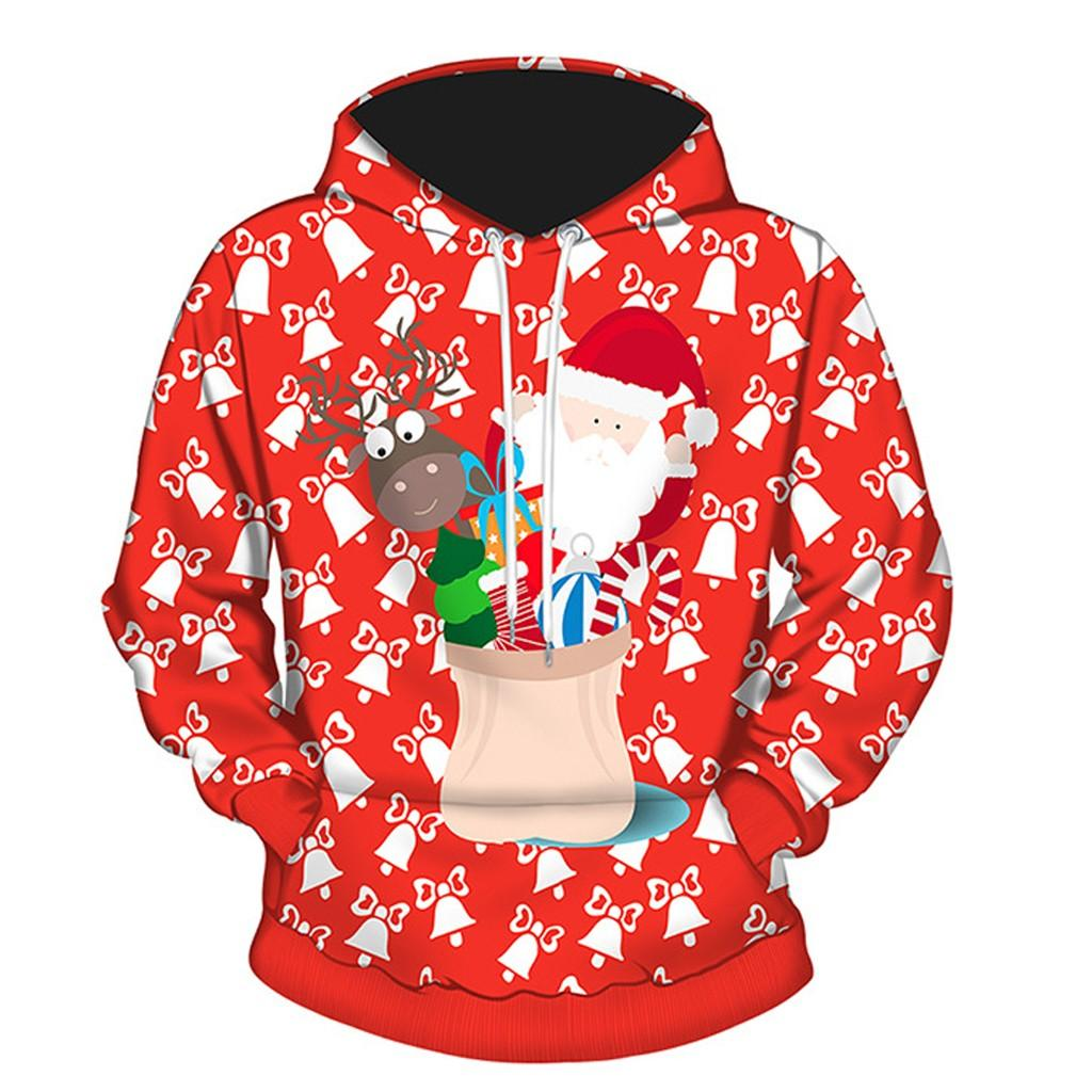 8d694fcac7d2b feitong Hoodies Women 2018 New Winter harajuku Men Women 3D Christmas Print  Long Sleeve Couples Hoodies Blouse Sweatshirts