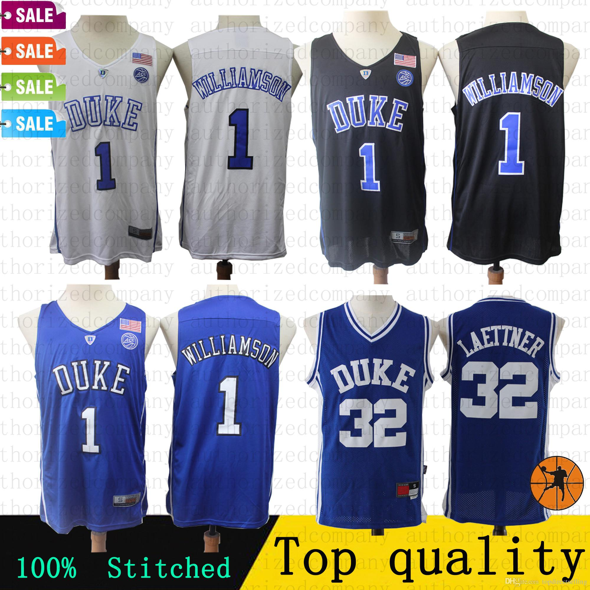 various colors d7a6c 504c7 2019 Newest NCAA Retro Basketball jersey 1 Zion Williamson 32 Christian  Donald Laettner Duke Blue Devils College jerseys 100% Stitched