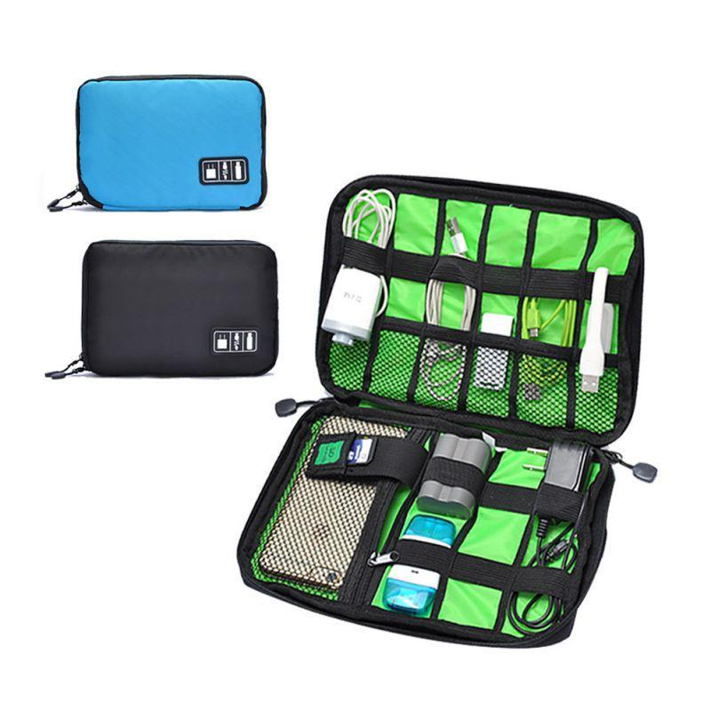 Wholesale- Earphone Cable Organizer Bag USB Flash Drives Case Digital Storage Pouch Travel Bag