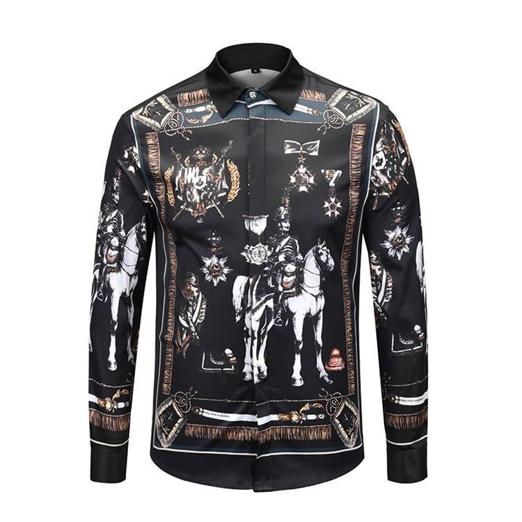 8a5b7309e69 2019 2019 New Brand Designer Shirts For Men Long Sleeves And Fashionable  Authentic Quality Shirts Beautiful Printing Mens Casual Shirts 54  From  Hostest