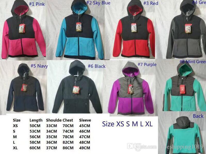 Women men Kids Fleece Hoodies Jackets Camping Windproof Ski Warm Down Coat Outdoor Casual Hooded SoftShell Sportswear Outerwear sweater Red