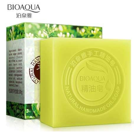 BIOAQUA Natural Jasmine Essential Oils Handmade Soap Whitening Skin Remove Acne Cleaning Dirt Anti Aging Men/women Skin Care Kit