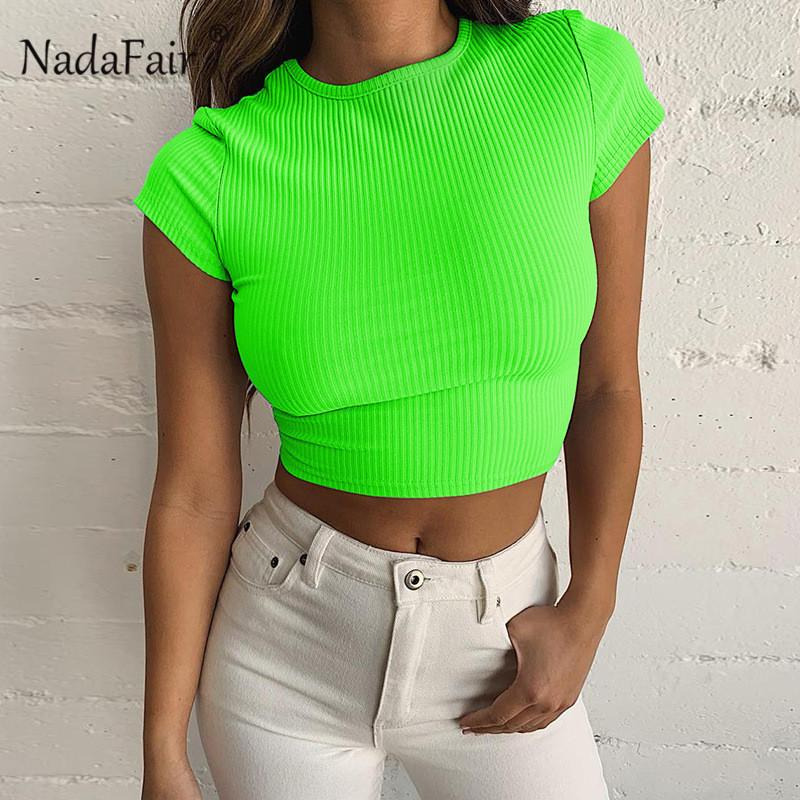 Women's Clothing Streetwear Ruffles Femininadrop Ship Fluorescence Green Womens Tops And Blouses Center Butoons Cropped Blouse