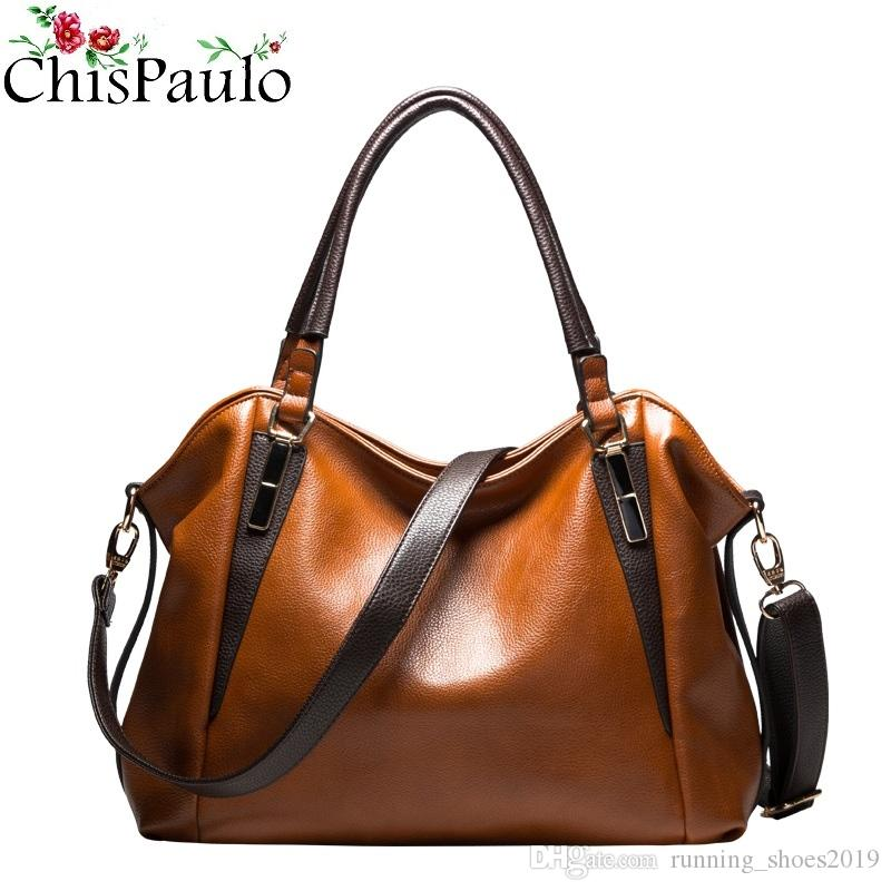e64039674372 CHISPAULO Famous Brands Designer Handbags High Quality Cowhide Genuine Leather  Handbags Casual Women Messenger Shoulder Bags X99  33554 Stone Mountain ...