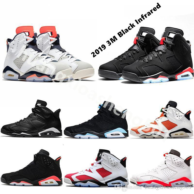 57d815c1d38 2019 New Bred Men 6 6s Basketball Shoes Low Tinker UNC Black Cat White  Infrared Red Carmine Toro Mens Designer Trainer Sport Sneaker Size 41 47  From ...