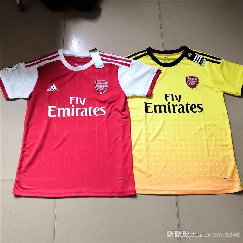 e56df5896 Compre AAA + Top Thail 2019 Temporada Nueva Camiseta Del Arsenal Camiseta  Roja Casa OZIL Camisetas De Fútbol Amarilla LACAZETTE IWOBI AUBAMEYANG  Camisetas ...