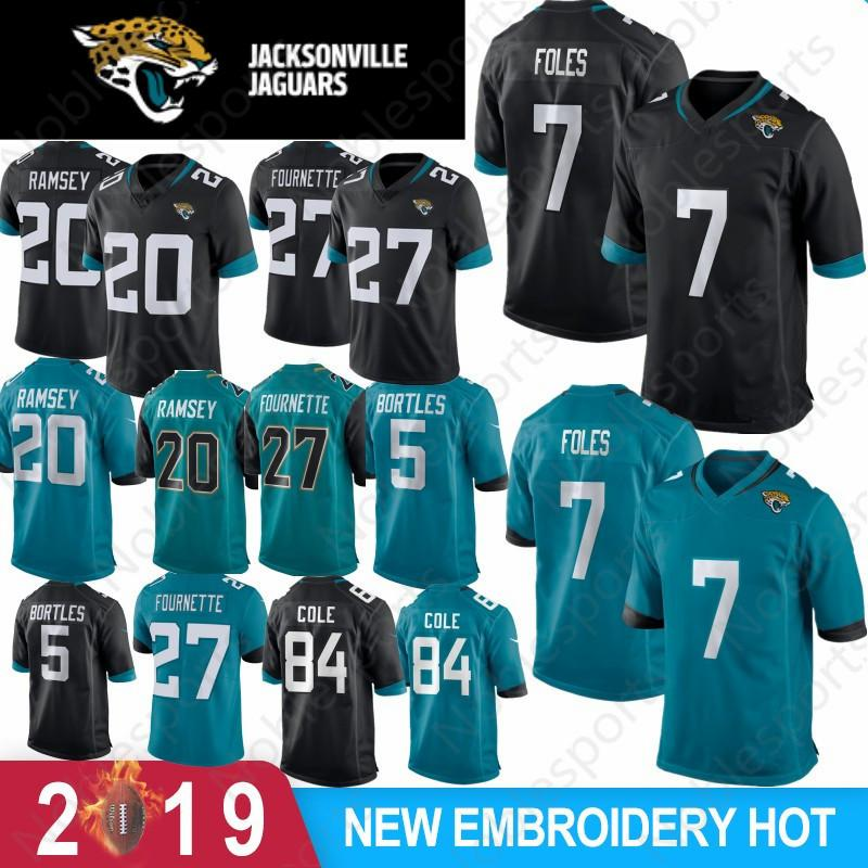 the best attitude afa53 178d0 7 Nick Foles Jacksonville Jersey Jaguar Jersey 27 Leonard Fournette 20  Jalen Ramsey 5 Blake Bortles 84 Keelan Cole New Stitched Top quality