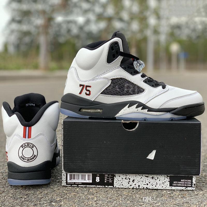 Version Nouvelle Marque Paris Basketball 75 De 5s Chaussures Acheter RLAj45