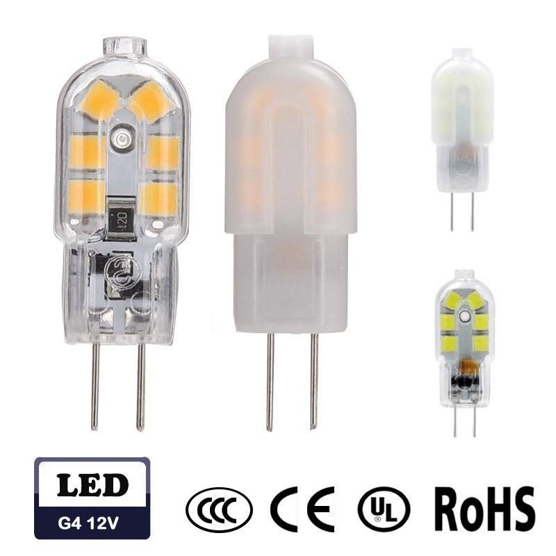 G4 Led Bulb 12v 2 5w 2835 Smd G4 Mini Led Bulbs 20w Halogen Bulb Equivalent Milkly Transparent Cover Warm White Cool White