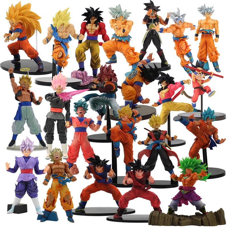 20Styles Dragon Ball Z Super Saiyan FES Son Goku Vegeta Warriors Jump 50th  Black Scultures Child Gold Figurine PVC Figure Toy 20Styles
