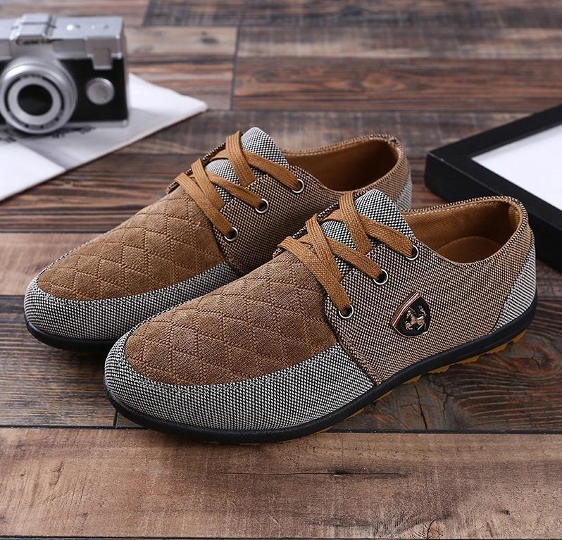 7a9cc507 2018 Fashion Canvas Shoes Men Casual Shoes Summer Breathable Yellow  Comfortbale Espadrilles Sneakers Men Flats Big Size