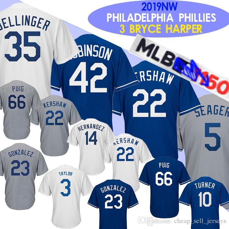 lowest price 5884f 08441 35 Cody Bellinger Dodgers jersey 10 Justin Turner jerseys 5 Corey Seager 22  Clayton Kershaw 14 Enrique Hernandez 23 Adrian Gonzalez