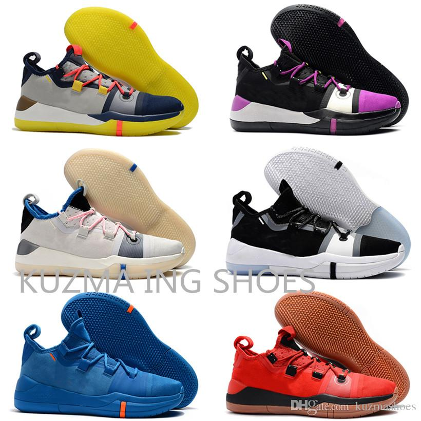 promo code f3b7c 16c56 AAA+ quality Kobe A.D. EP Mamba Day Sail Black Toe Multi-Color Pack men  Pink Basketball Shoes Wolf Grey Exodus white Mens Trainers Sneakers