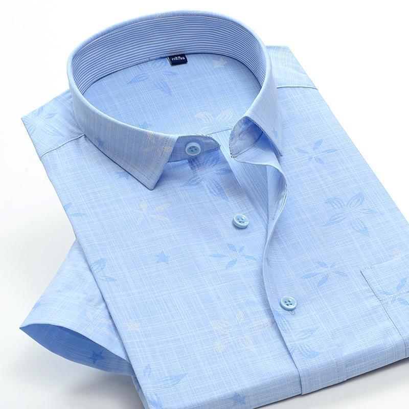 ddca3539dbf 2019 Short Sleeve 66088 Shirts High Qualtiy Jacquard Weave Fashion Summer  Super Large Casual Formal New Men Plus Size 28 50 M 10xl From Derrick83