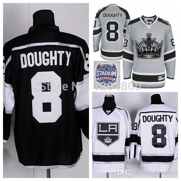 the latest 26304 ece0d 2016 Cheap Los Angeles Kings Jerseys #8 Drew Doughty Hockey Jersey Team  Color Home Black Road White LA Kings Stitched Jerseys China