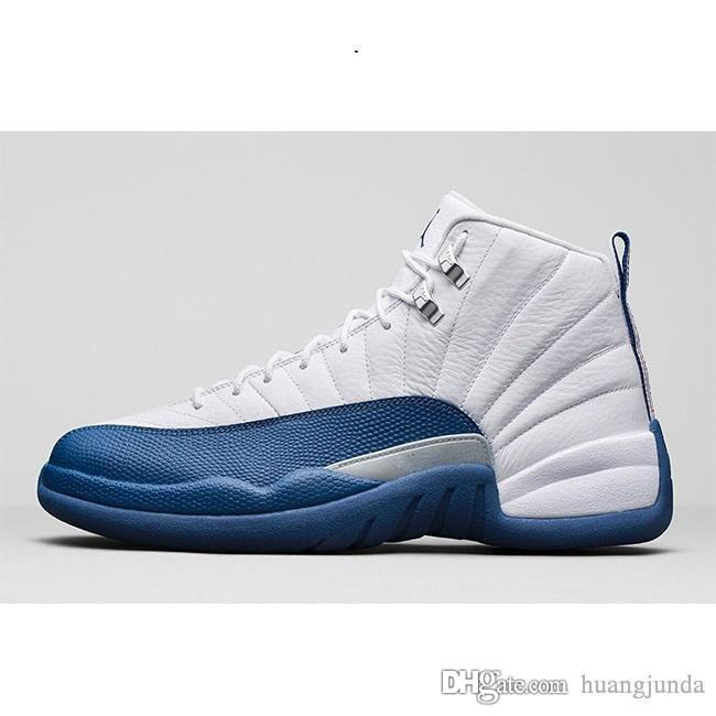sports shoes b9a7e f9811 2019 Cheap Men Jumpman 12 XII Basketball Shoes 12s Black Nylon Gamma Blue  Suede Grey Barons French Blue Cherry CNY J12 Sneakers With Original Box  From ...